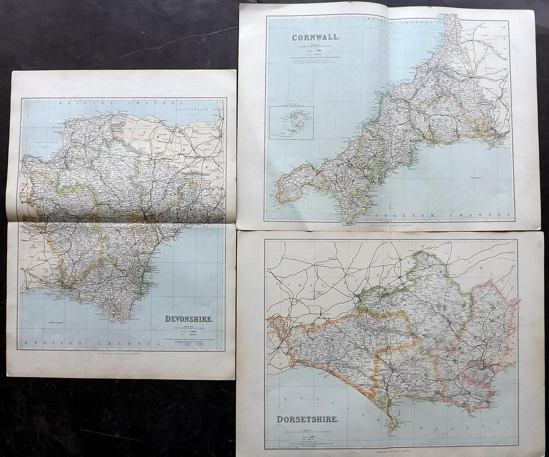 Philip, George C1895 Maps of Devon, Cornwall Dorset (3)