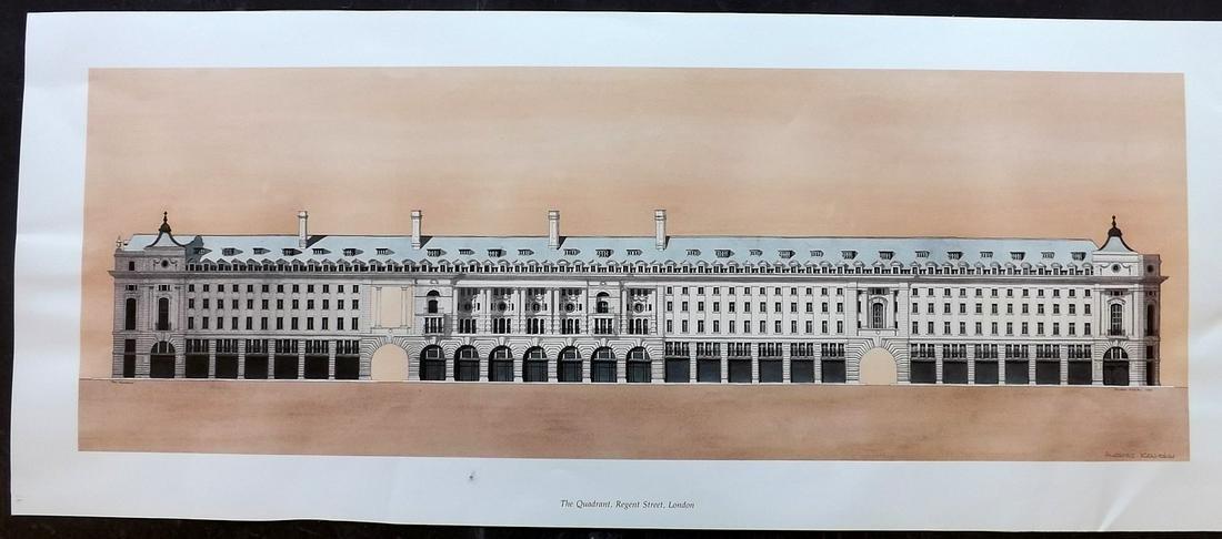 Kaldor, Andras C1989 Signed Architecture Print. London
