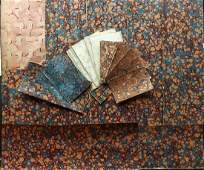 Marble End Papers Bookbinding 19th Cent Lot of 37