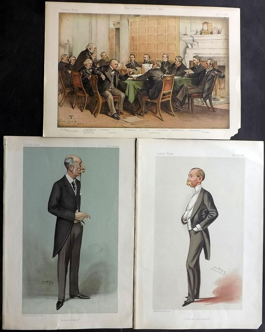 Vanity Fair Prints 1883-1903 Mixed Lot of 3