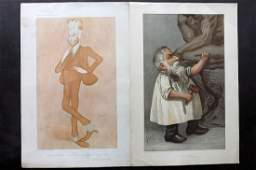 Vanity Fair Prints 1904-05 Pair. Auguste Rodin etc
