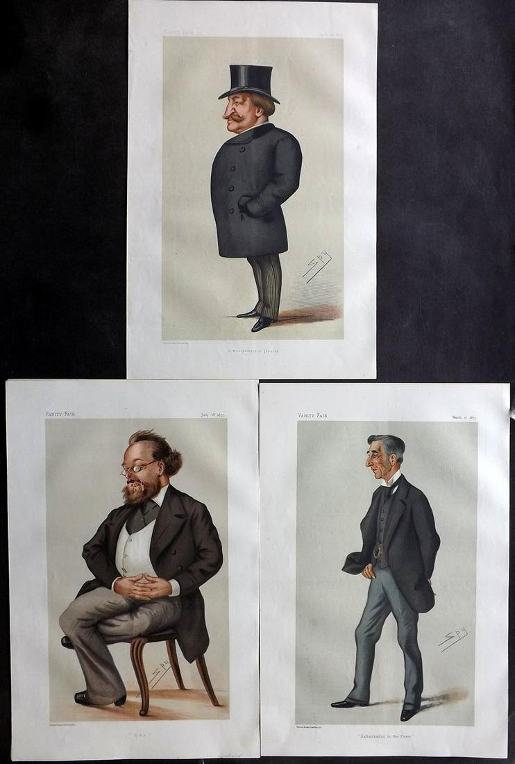 Vanity Fair Prints 1877 Lot of 3 Ambassadors