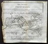 Pluche Noel 1748 Map of Pheniciennes Mediterranean