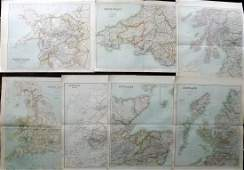 Philip George C1895 Lot of 7 British County Maps