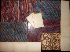 Marble End Papers Bookbinding 19th Cent Lot of 19