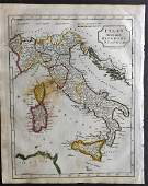 Barclay, James 1809 Antique Map. Italy
