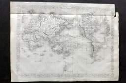 Rapkin, John 1860 Map. World on Mercator's Projection
