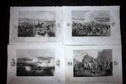 Crimean War 1858 Lot of 8 Military Prints by Tyrrell