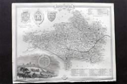 Moule Thomas C1850 British Map Dorset