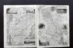 Moule Thomas C1850 British Maps 2 Derbys  Notts