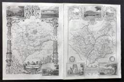 Moule Thomas C1850 British Maps 2 Leics  Rutland