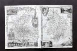 Moule Thomas C1850 British Maps 2 Warcks  Worcs