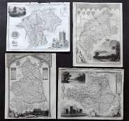 Moule Thomas C1850 British Maps 4 North England