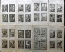 Bankes Thomas C1790 Lot of 8 Folio Religious Prints