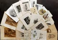 Mixed Prints 19th Cent Lot of 35 Engravings  Lithos