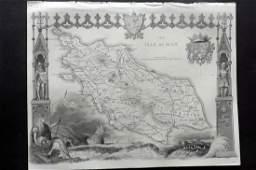 Moule Thomas C1850 British Map Isle of Man
