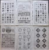 Howard George 1796 Lot of 9 Prints Heraldry Seals