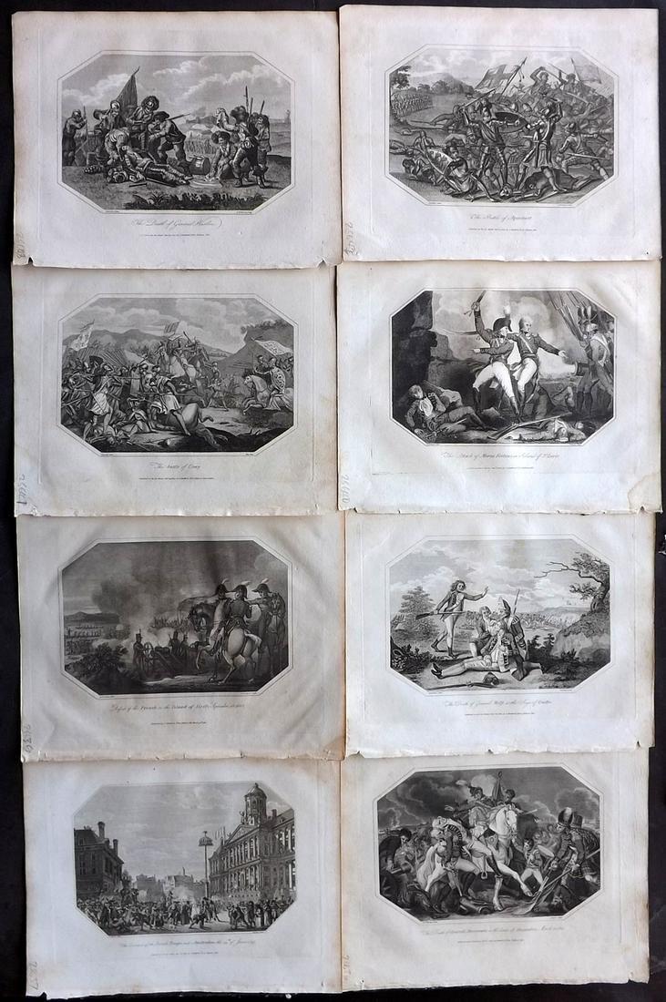 Lyttleton, George 1810 Lot of 8 Military Prints