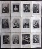 Tyrrell Crimean War 1858 Lot of 12 Portraits