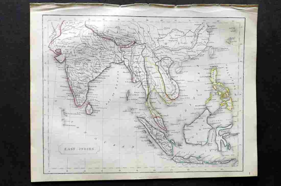 Becker, F. C1850 Antique Map of the East Indies