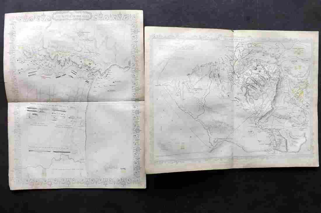 Crimean War 1858 Pair of Battle Plans by Rapkin Tyrrell
