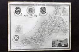 Moule Thomas C1850 British Map Cornwall