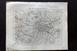 Moule Thomas C1850 British Map London