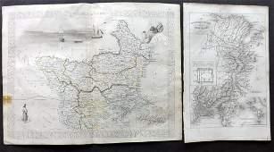 Turkey 1858 Pair of Maps. Tallis & Rapkin, Istanbul