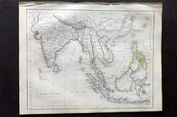 Becker F C1850 Antique Map of the East Indies