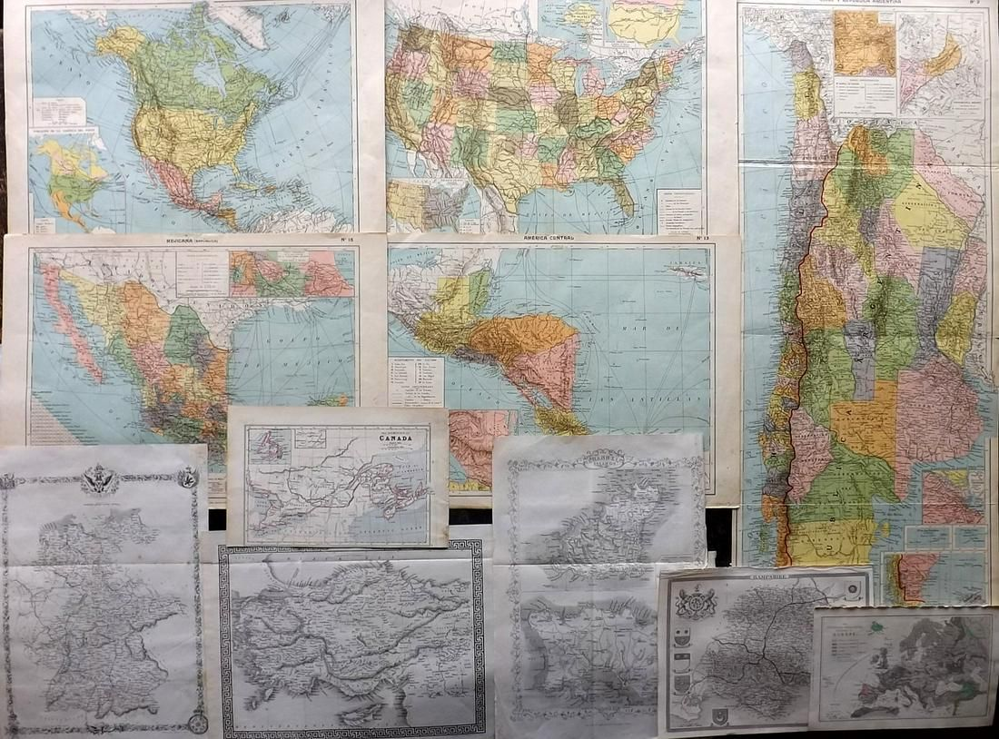Maps C1860-1910 Mixed Lot of 10