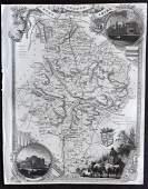 Moule Thomas C1850 British Map Huntingdonshire