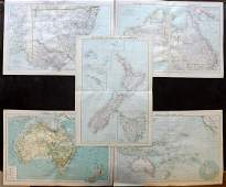 Philip George C1900 Maps Australia NZ Pacific
