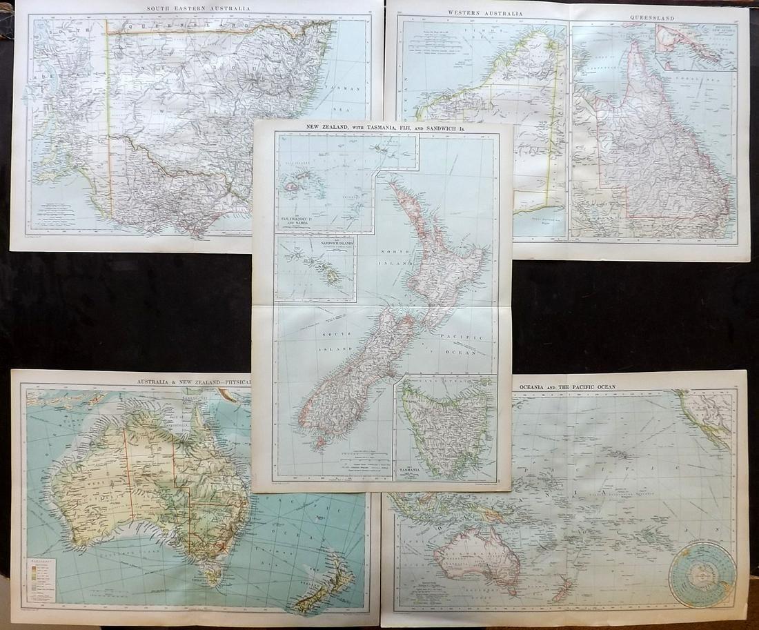 Philip, George C1900 Lot 5 Maps. Australia, NZ Pacific