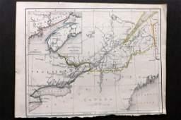 Becker F C1838 Antique Map Canada