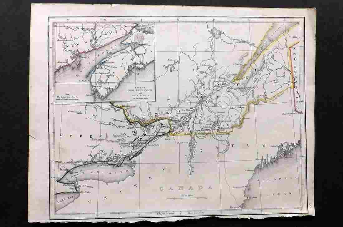 Becker, F. C1838 Antique Map. Canada