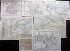 Maps 1799C1900 Mixed Lot of 7 Antique Maps
