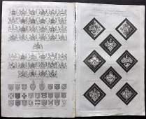 Hall William 1791 Pair of Folio Prints Heraldry