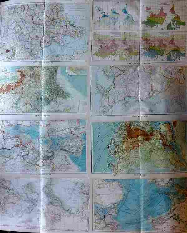 Philip, George C1900 Mixed Lot of 8 Maps