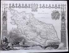 Moule Thomas C1838 British Map Isle of Man