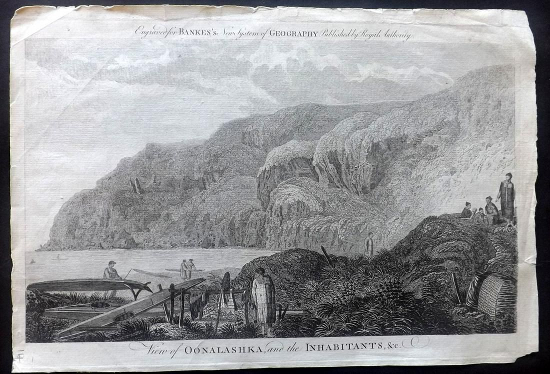 Bankes, Thomas C1790 Folio Print. Alaska, USA