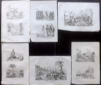 Voyage pittoresque 1834 Lot of 6 Prints Pacific Asia