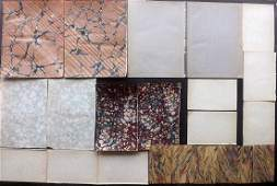 Marble End Papers Bookbinding 19th Cent Lot of 22