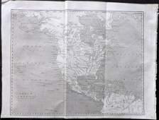 Encyclopaedia Perthensis 1816 Map of North America