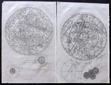 Encyclopaedia Perthensis 1816 Pair of Celestial Maps