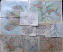 Maps C1835-1922 Mixed Lot of 9