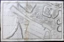 Russell, J. 1811 Map of Boulogne, France