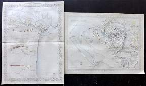 Tallis  Rapkin 1858 Pair of Battle Plans Crimea