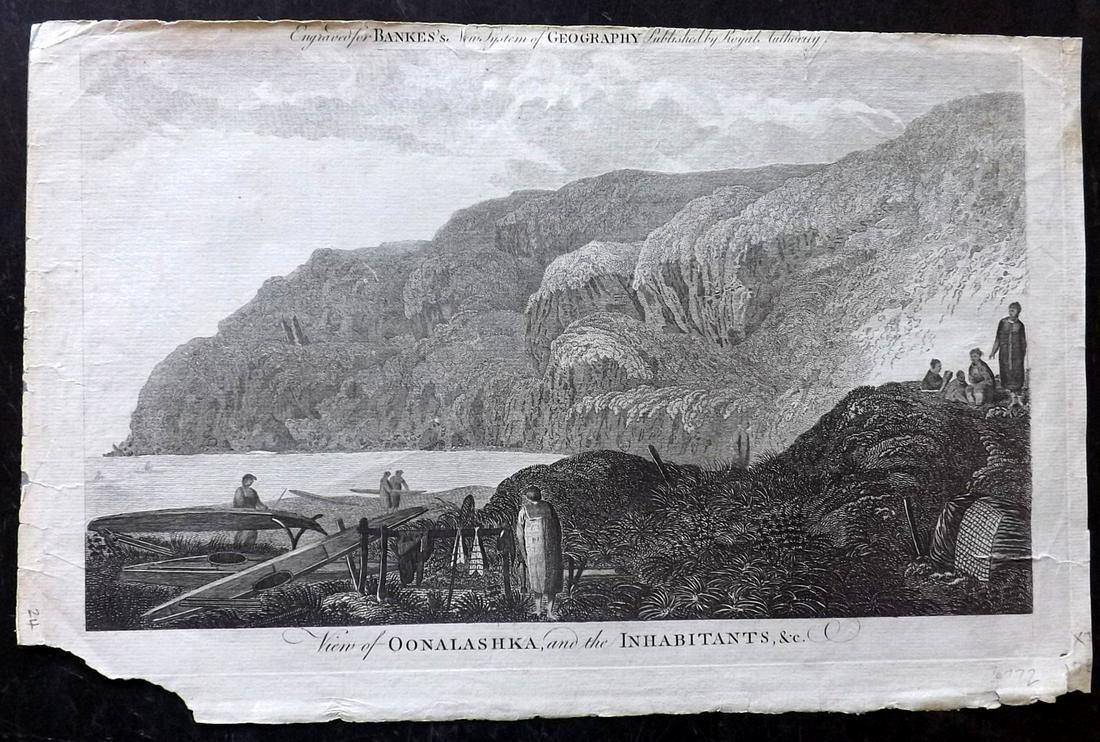 Bankes, Thomas C1790 Folio Print. View of Alaska USA