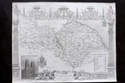 Moule Thomas C1838 British Map North Yorkshire
