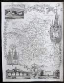 Moule Thomas C1838 British Map Worcestershire
